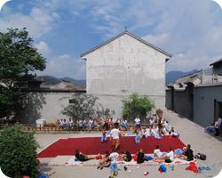 Children doing kung fu in Wangzhigou