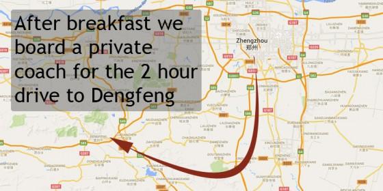 3 – Then from Zhengzhou by bus, to Dengfeng City…