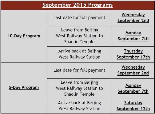 September Dates
